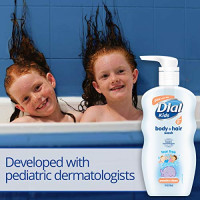 Dial Kids Body + Hair Wash, Peachy Clean, 24 Ounce (Pack of 4): Beauty