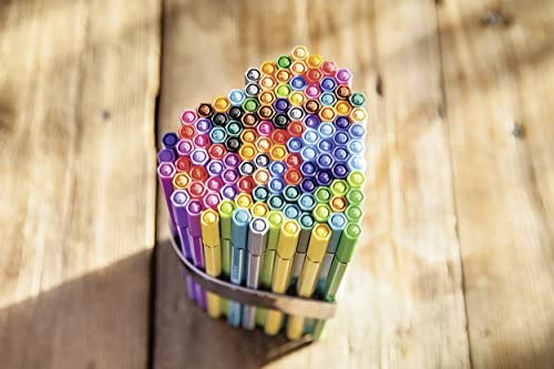 Stabilo Pen 68 Living Colours Drawing Felt Pens Pack of 8 Medium Tip Narval Design : Office Products