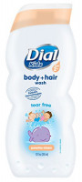 Dial Kids Body + Hair Wash, Peachy Clean Tear Free, 12 Fluid Ounces (Pack of 6): Beauty