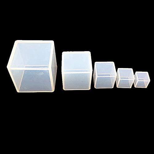 5PCS Square Resin Mold Cube Resin Casting Molding Silicone Molds Tools Set for DIY Craft Making Included 5 Size Silicone Resin Mold,10 PCS Wood Sticks,3 Mixing Cups,2 Measuring Cups (20pcs): Arts, Crafts & Sewing