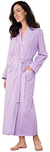 PajamaGram Ultra Soft Womens Bathrobe - Cotton Robes for Women, Purple, XL / 16 at Women's Clothing store