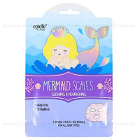 Epielle Character Skincare Facial Masks (Assorted-6 masks) 1-Dalmatian, 1-Zebra, 1-Cat, 1-Shark, 1-Narwhal, 1-Mermaid Scale : Beauty