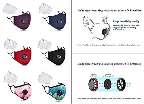 3 Pcs Upgrade Adult Cotton Face Bandana with Filter Pocket, 3 Ply Breathable Material, Washable Reusable with Adjustable Ear Loop, GW+WBP+GG