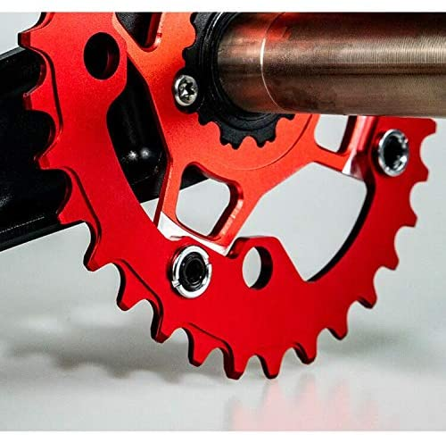 Bynccea Oval Chainring Narrow Wide Single Chainring 32T 34T 36T 38T for 2 in 1 96 BCD 104 BCD Crankset : Sports & Outdoors