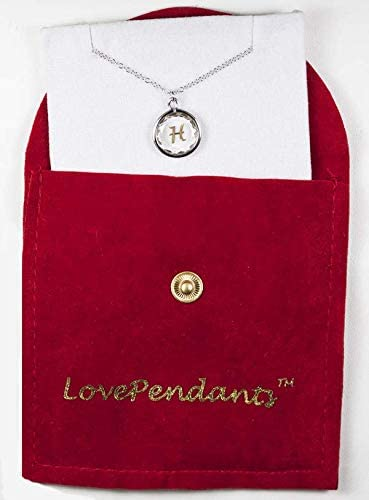 """LovePendants 16-18"""" Pendant/Necklace in White Swarovski Crystal with Gold Enameled Pomeranian Engraving in 14k Gold-Plated Sterling Silver.: Jewelry"""