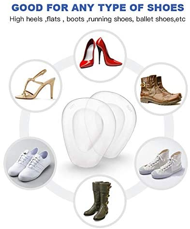 3 Pairs Ball of Foot Cushions Adhere to Shoes, Metatarsal Pads with Water Drop Shape 4D Design, Professional Reusable Soft Insole, One Size Fits Shoe Inserts, by Mildsun: Health & Personal Care