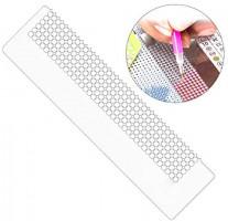 Hankyky 31cm 800 Holes 140mm Diamond Painting Net Ruler Mold Nano Point Drill Ruler Diamond Painting Cross Stitch: Kitchen & Dining