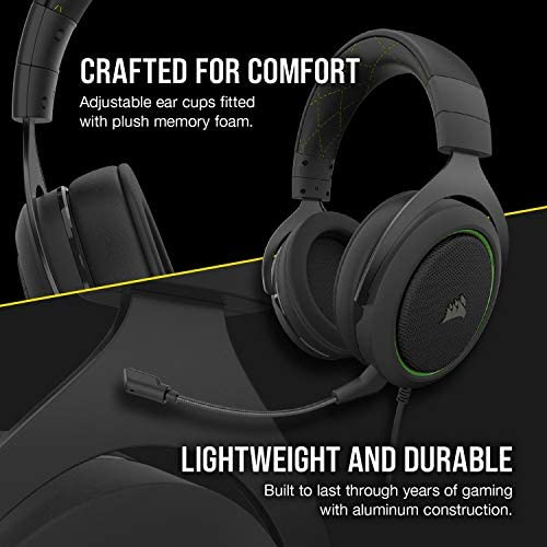 Corsair HS50 Pro Stereo Gaming Headset, Green: Electronics