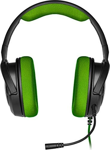 Corsair HS35 Wired Stereo Gaming Headset w/Microphone - Green: Electronics