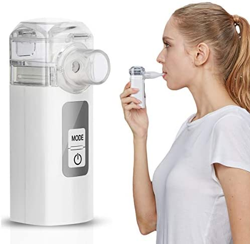 MGLIFMLY Mini Handheld Vaporizers, Portable Steam Vaporiser, Compact Personal Vaporiser for Kids and Adults, Fine Mist for Better and Deeper Absorption: Home & Kitchen
