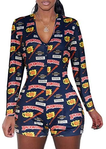 Bai You Mei Women Sexy Bodycon Onesies Pajamas Summer Sleepwear One Piece Shorts Jumpsuit Nightwear Overall at Women's Clothing store