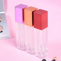 ORNOOU 5.5 ml Square Lip Gloss Tubes with Wand Brush 10 Pack Empty Plastic Makeup Reusable Dispenser Bottle Container for Lipstick Samples, Random Color : Beauty