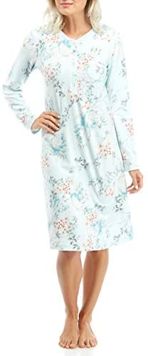 Miss Elaine Brushed Waffle Knit Short Gown 216509D at Women's Clothing store