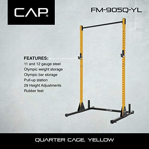 CAP Barbell Power Rack Exercise Stand, Yellow : Sports & Outdoors