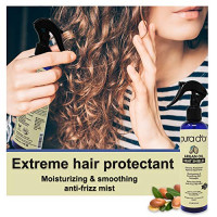 PURA D'OR Argan Oil Heat Shield Protectant Spray (8oz / 237mL) Infused w/ Organic Argan Oil: Protect up to 450º F from Flat Iron & Hot Blow Dry. Leave-In Conditioner: Define & Shine Dry & Damaged Hair: Beauty