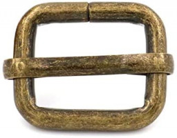 BIKICOCO Metal Slide Adjuster Buckle Tri-Glides with Movable Center Bar, for Adjustable Straps, Non Welded, 0.6x0.5 Inch, Bronze, Pack of 20