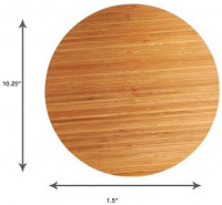 Home Intuition Bamboo Wooden Lazy Susan Turntable 13.5 Inch Diameter