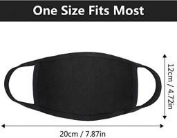 Reusable Cotton Fabric,Fashion Protective, Unisex Black Dust Cotton, Washable (8PCS): Beauty