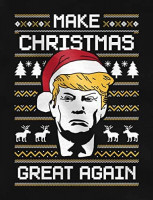 Donald Trump Make Christmas Great Again Funny Ugly Christmas Sweatshirt: Clothing