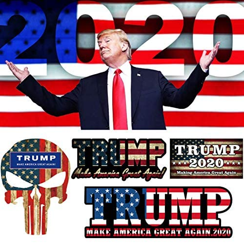 iZoel Trump 2020 Stickers Car Decals Bumper Stickers, United States 2020 Presidential Election, Make America Great Again(4 Pack): Toys & Games