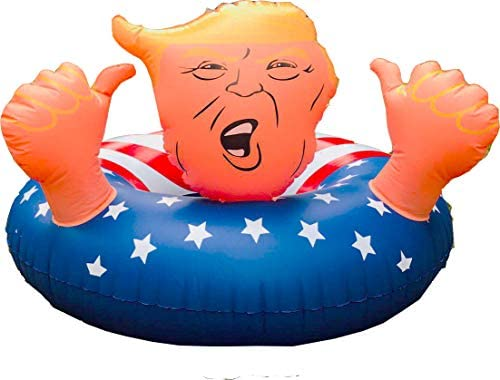 "drembuilderToy Donald Trump 47"" Best Summer Inflatable Float Swimming Trump Ring, Fun Inflatable Trump Tube,Swim Float for Summer Fun: Toys & Games"
