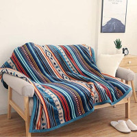 Ukeler Flannel Sherpa Throw 50'' x 60''- Bohemian Soft Plush Flannel Blanket Throws for Bed/Couch/Sofa/Office/Camping: Home & Kitchen