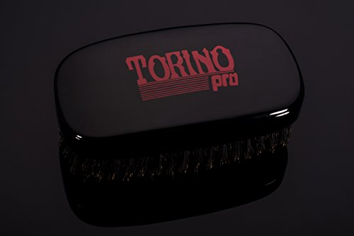 Torino Pro Wave Brush #120 by Brush King - 7 Row, Medium Palm Wave Brush - Made with 100% Boar Bristles - Great for Wolfing - 360 Waves Brush : Beauty