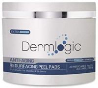 Anti Aging Resurfacing Peel Pads-Triple action chemical peel pads combined with Glycolic, Lactic, and Salicylic Acids. Smooth's fine lines, wrinkles, dark spots, and imperfections to enhance the skin.: Health & Personal Care