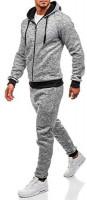Stoota Men's 2020 2 Pieces Solid Color Hoodie Tracksuit, Zipper Up Jogging Gym Sweatsuit Pants Sets Activewear at Men's Clothing store