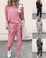 Fixmatti Women Casual 2 Piece Outfit Long Pant Set Sweatsuits Tracksuits at Women's Clothing store