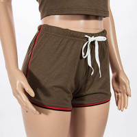 Women's 2 Piece Shorts Set - Sexy Outfits Crop Top + Shorts Tracksuit at Women's Clothing store