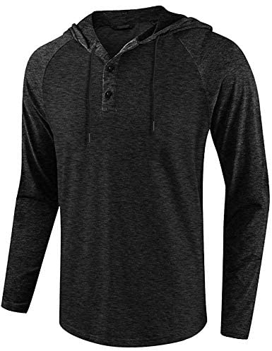 COOFANDY Men's Athletic Casual Hoodie Quick Dry Active Fit Sports Jersey Shirt: Clothing