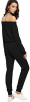 SweatyRocks Women's Two Piece Crop Top and Sweatpant Set Sport Tracksuit Outfit at Women's Clothing store