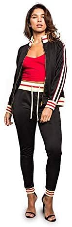 Victorious Women's 2 Piece Tracksuit Set - Long Sleeve Sweatshirts and Sweat Pants at Women's Clothing store