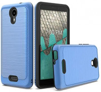 for Wiko Life 2 U307AS Slim Lining Hybrid Cover Case + Tempered Glass + Extreme Band + Stylus Pen + Pry Tool (Blue)