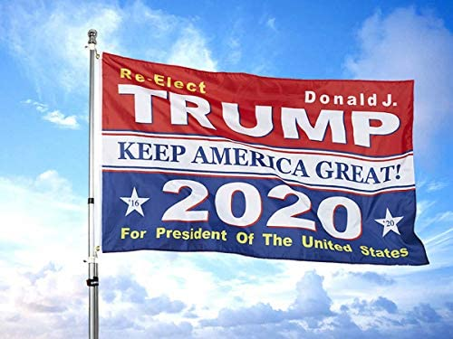 Donald Trump Flag for President - 2020 Keep America Great Flags - 3x5 Feet Durable Polyester with Grommets Donald J Re-Elect : Garden & Outdoor