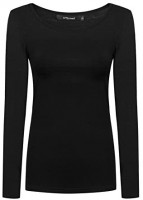 OThread & Co. Women's Long Sleeve T-Shirt Scoop Neck Basic Layer Spandex Shirts at Women's Clothing store