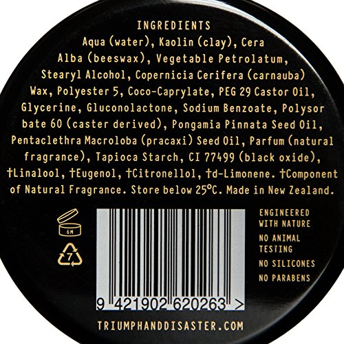 Triumph & Disaster Coltrane Clay 3.35oz – Designer Matte Medium Hold Conditioning Hair Styling Clay made with Natural White Clay Beeswax and Pracaxi Oil: Beauty