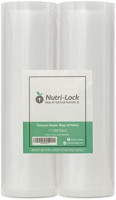 Nutri-Lock Vacuum Sealer Bags. 2 Rolls 11x50. Commercial Grade Food Saver Bags Rolls. Nutri-lock Bags Work with Foodsaver. Perfect for Sous Vide.: Kitchen & Dining