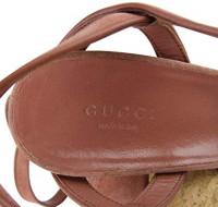 Gucci Women Brick Red Danielle Suede Platform Sandal 309974: Shoes
