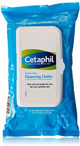 Cetaphil Gentle Skin Cleansing Cloths, 25 sheets (Pack of 4): Beauty