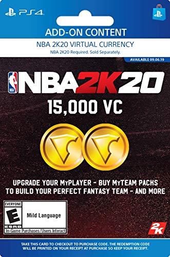 NBA 2K20: 15000 VC Pack - [PS4 Digital Code]: Video Games