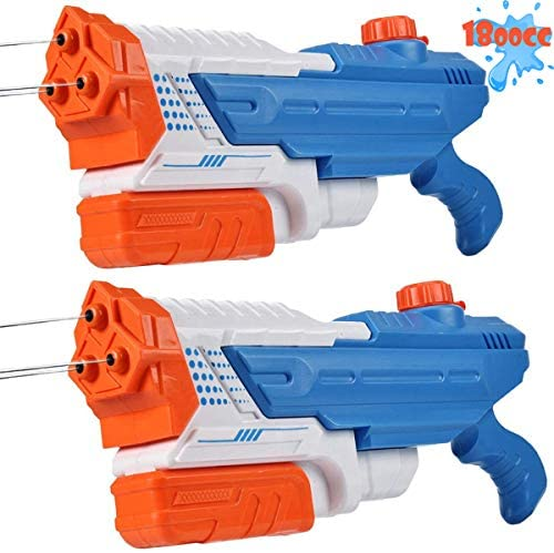 Mitcien Water Guns, 3 Nozzles Big Power 1800CC (2 Pack) for Kids Adults, Water Squirt Gun Pool Toys for Teenage Boys Girls Water Fight: Toys & Games