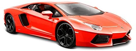 Maisto Lamborghini Aventador LP 700-4 Diecast Vehicle (1:24 Scale), Metallic Orange: Toys & Games