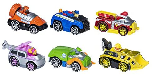 Paw Patrol, True Metal Classic Gift Pack of 6 Collectible DIE-CAST Vehicles, 1: 55 Scale, Multicolor: Toys & Games