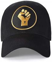 Black Lives Matter Hat Women Baseball Cap for Men Women (Fist Up Round Logo): Clothing
