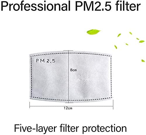 20 PCS activated carbon filter, 5 layer replaceable filter anti-fog, (delivery time is 3-7 days): Home Improvement