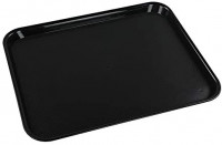 "Ramddy Black Serving Trays, 17.2""x13.5""x0.9"", Set of 4: Serving Trays"