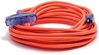 25 ft 10 Gauge extension cord Heavy Duty Indoor Outdoor Triple Outlet Extension Cord 10/3 125 volt, 1875 watt, 5-15P/R, UL Listed 10 gauge Power extension cord 10 3 prong 25 ft