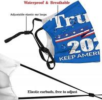 Keeplus Trump 2020 Reusable Mask Print Pattern Face mask Washable Cloth mask Balaclava Outdoor (Black): Clothing